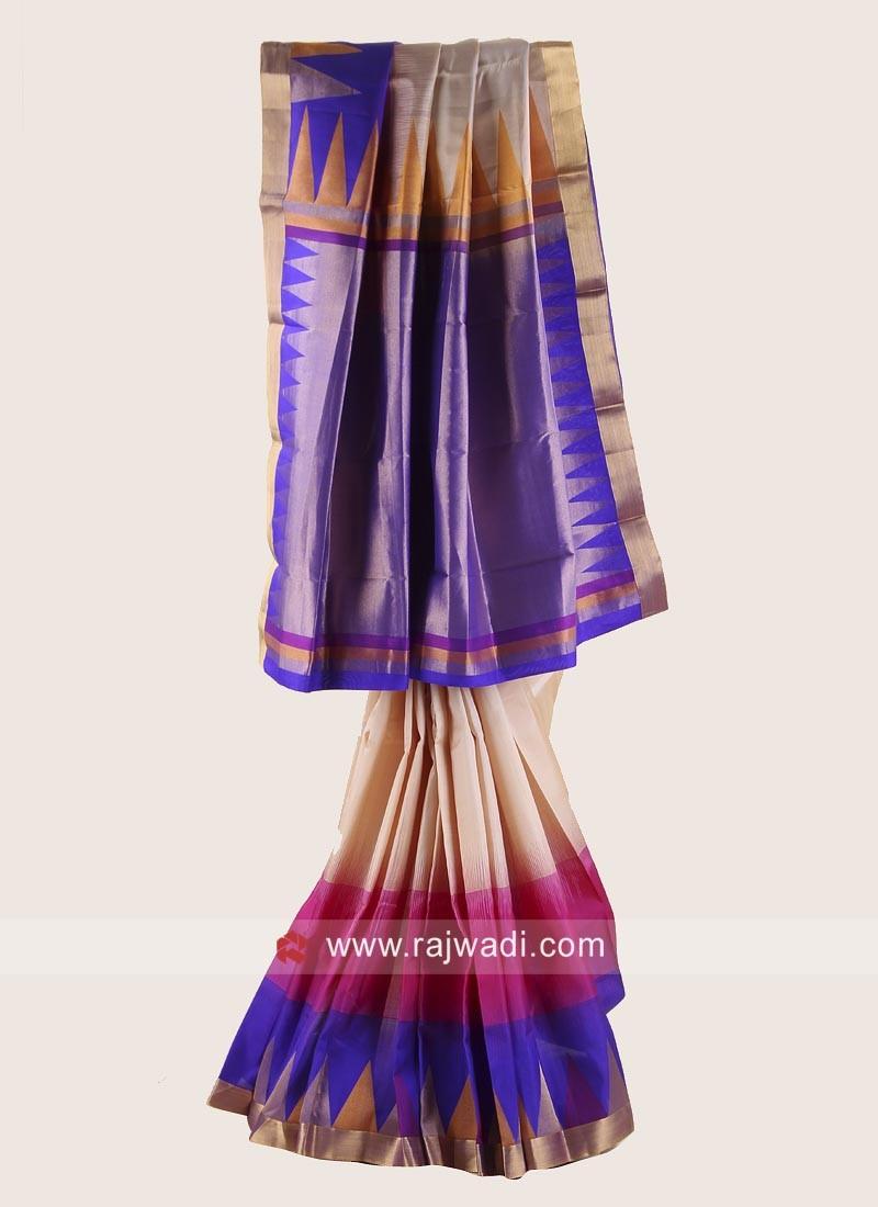 Pure Silk Resham Woven Saree