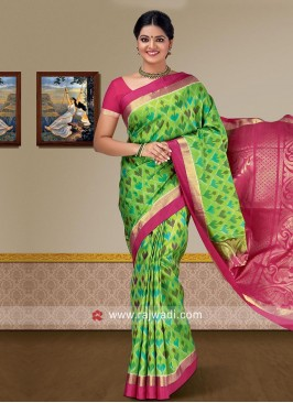 Pure Silk Saree with Blouse