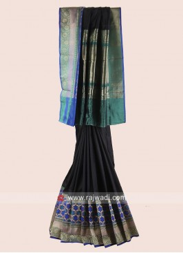 Pure Silk Saree with Woven Border