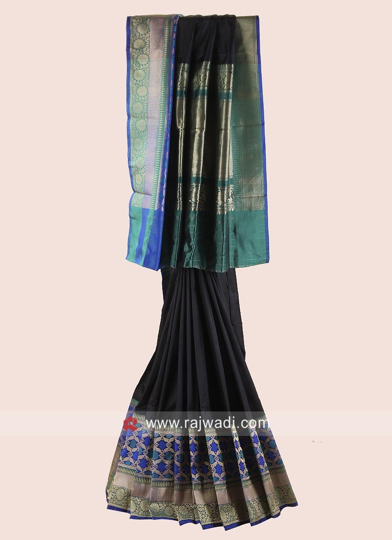 Pure Silk Saree with Woven Border