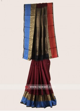 Pure Silk Weaving Saree for Wedding