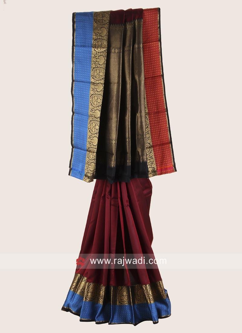 Pure Silk Weaving Saree for Wedding