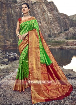 Pure Silk Weaving Saree with Blouse