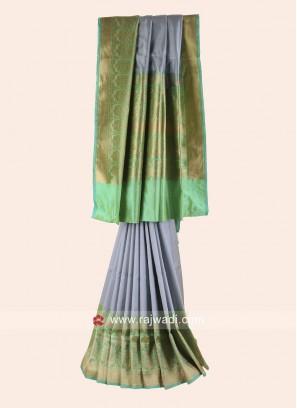 Pure Silk Weaving Saree with Border