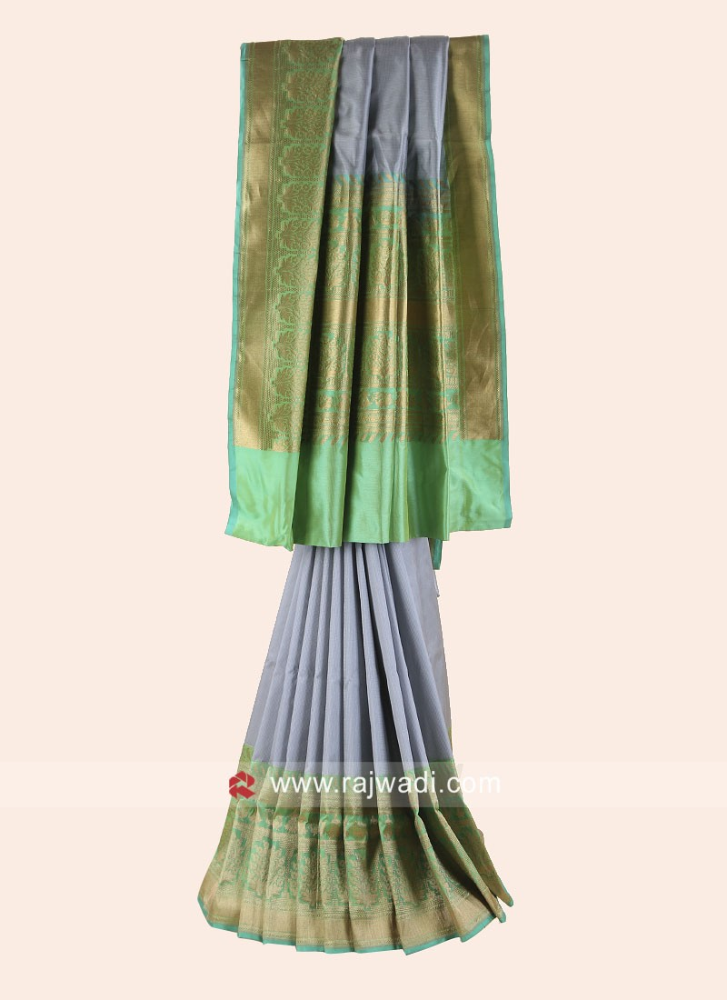 Pure Silk Weaving Saree with Border