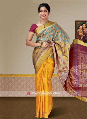 Pure Silk Weaving Wedding Saree