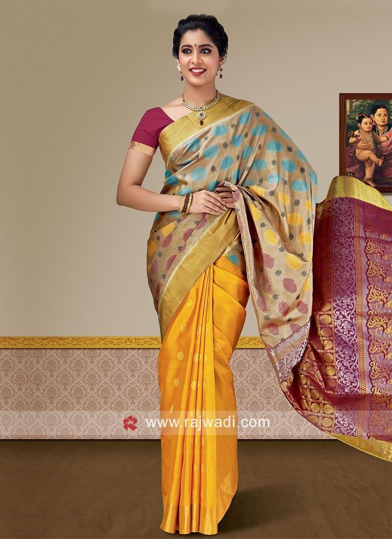 Pure Silk Weaving Wedding Saree