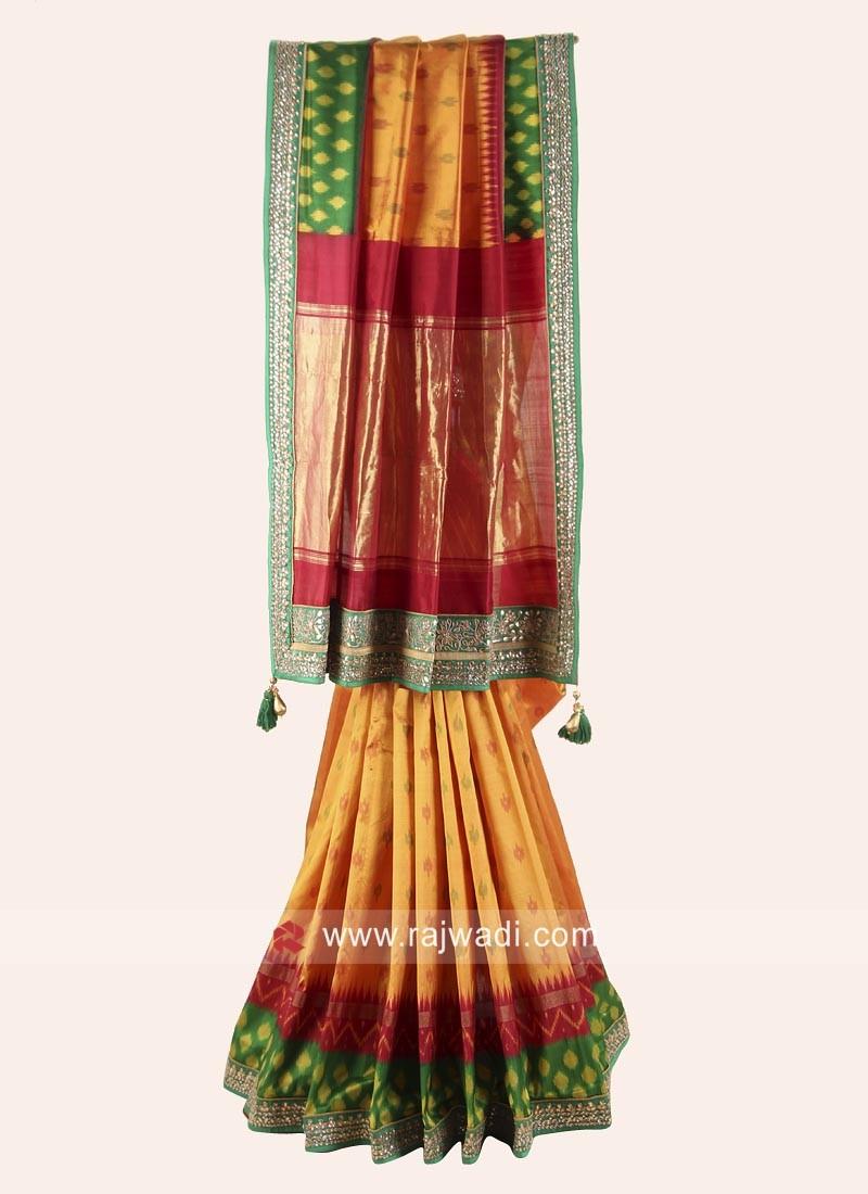 Pure Silk Wedding Patola Saree