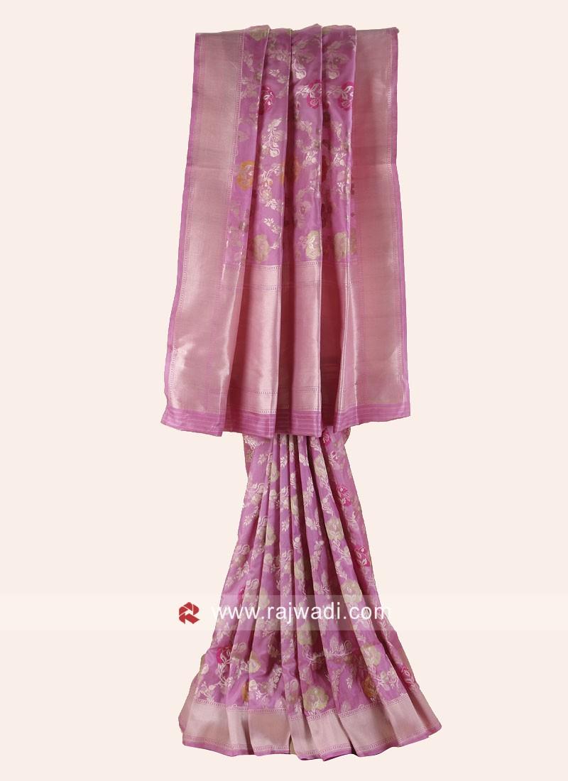 Pure Silk Wedding Reception Saree