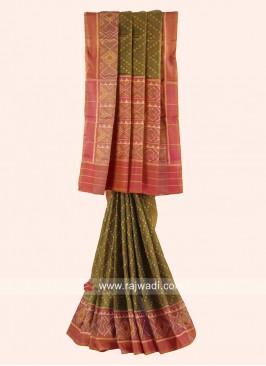 Pure Silk Wedding Saree with Blouse