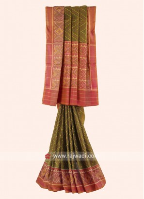 Pure Silk Wedding Saree with Blouse