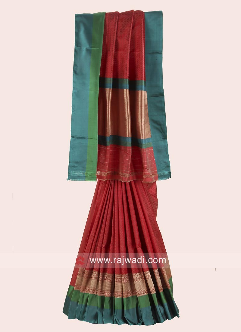 Pure Silk Woven Saree with Blouse