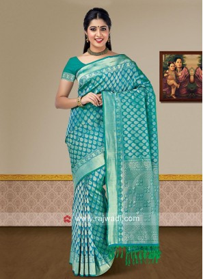 Pure Silk Woven Wedding Saree
