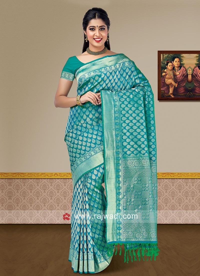 Pure Silk Woven Wedding Saree