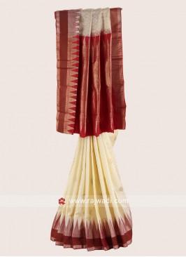 Pure Silk Zari and Resham Weaved Saree