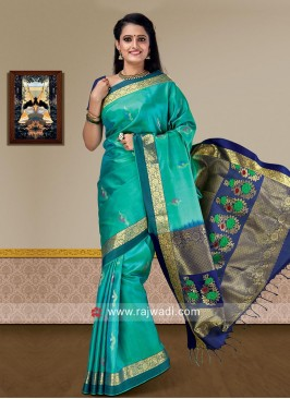 Pure Silk Zari and Resham Woven Saree