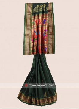 Pure Silk Zari Weaved Saree with Border