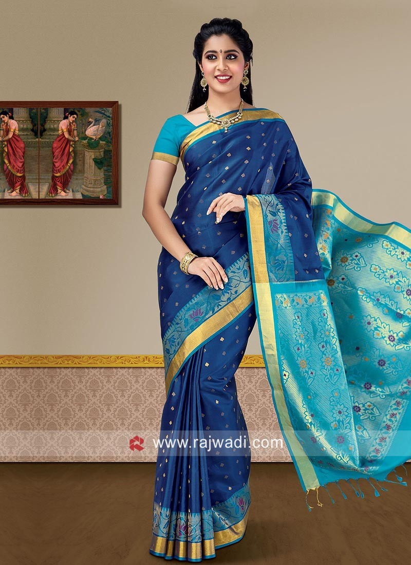 Pure Silk Zari Weaving Saree