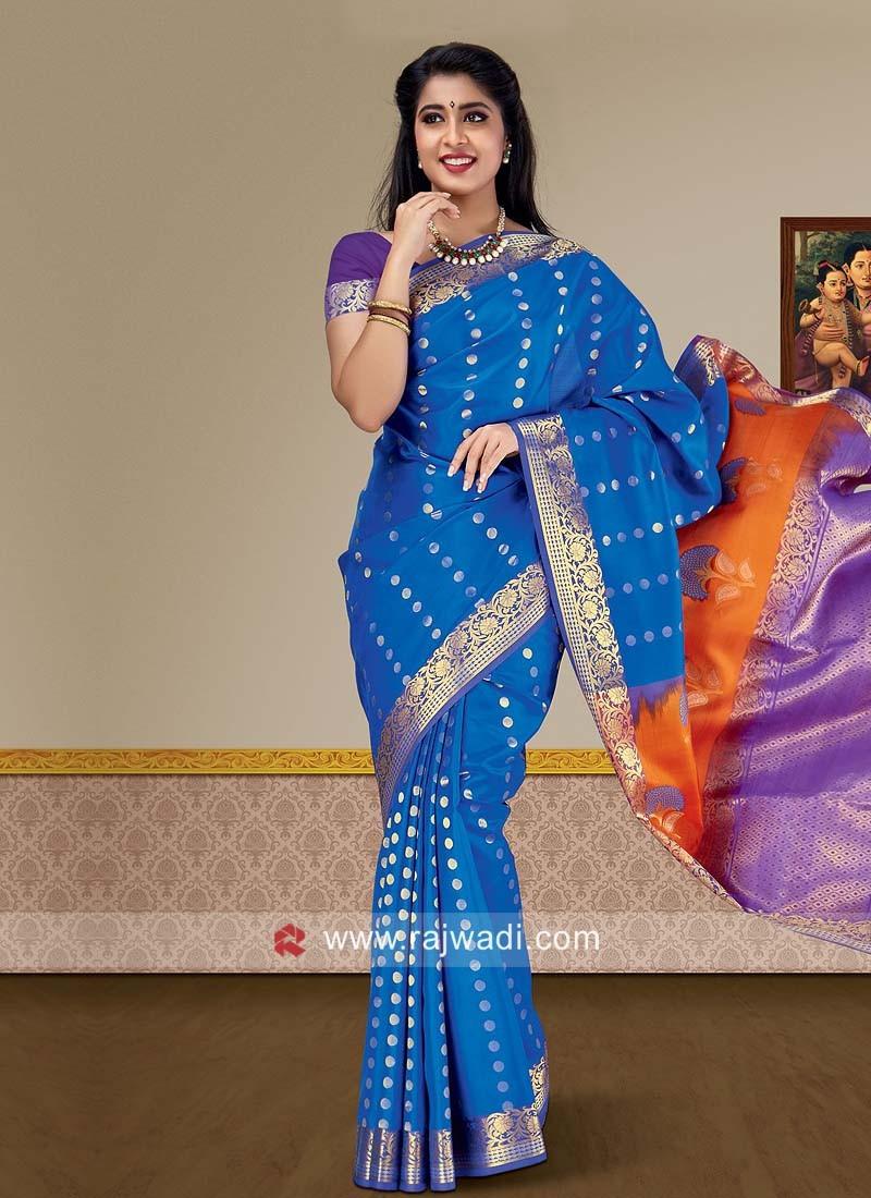 Pure Silk Zari Weaving Saree