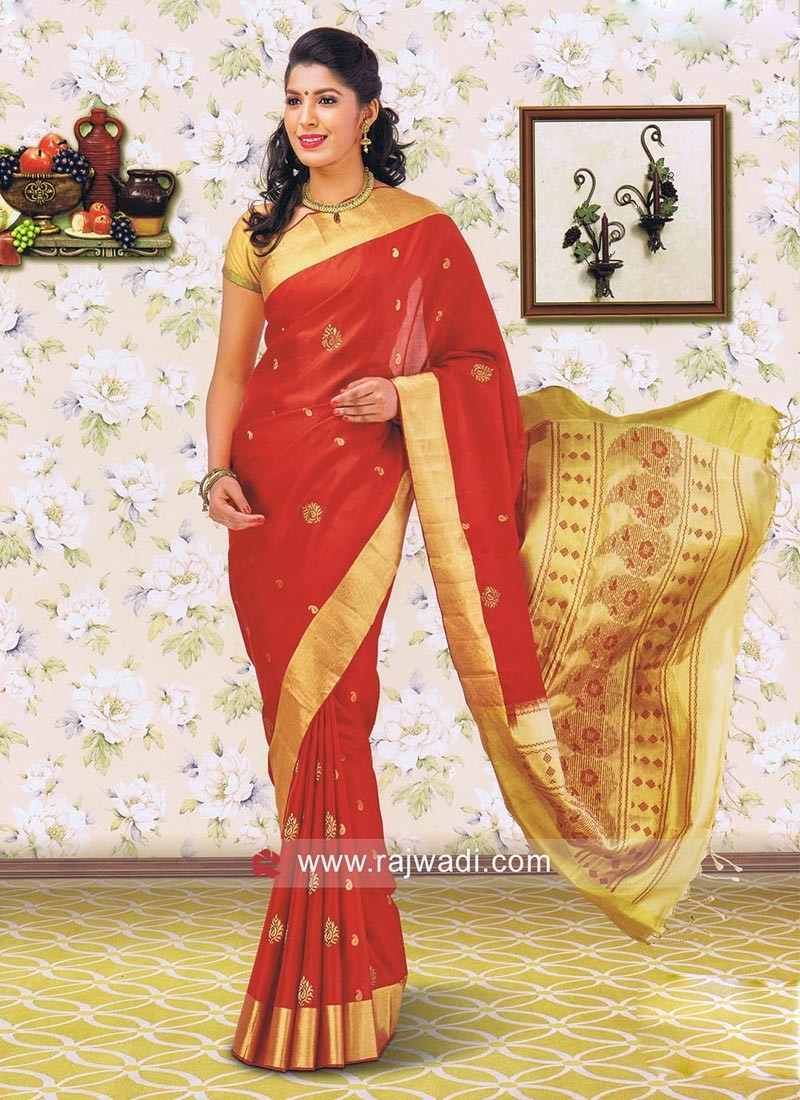 Pure Silk Zari Work Saree