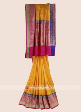 Pure Silk Zari Woven Saree with Blouse