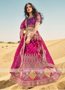 Purple And Deep Pink Lehenga Choli
