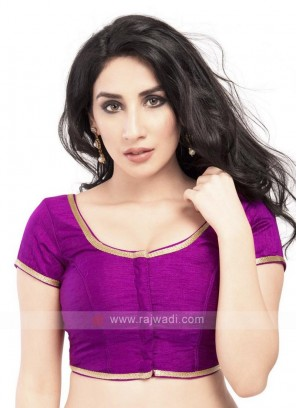 Purple Brocade Ready Blouse
