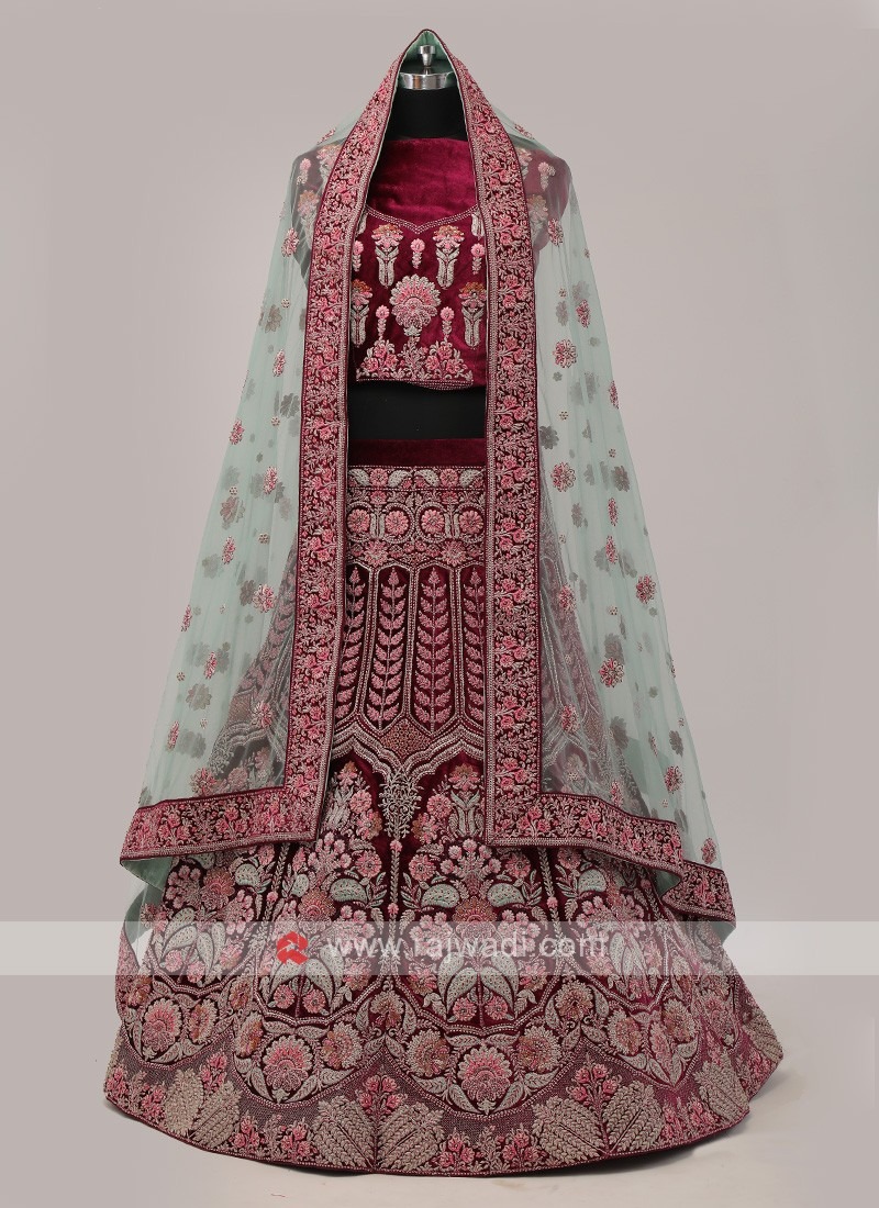 Purple Color Bridal Lehenga Choli