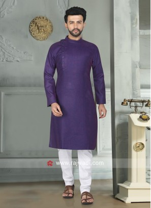 Purple Color Kurta Pajama