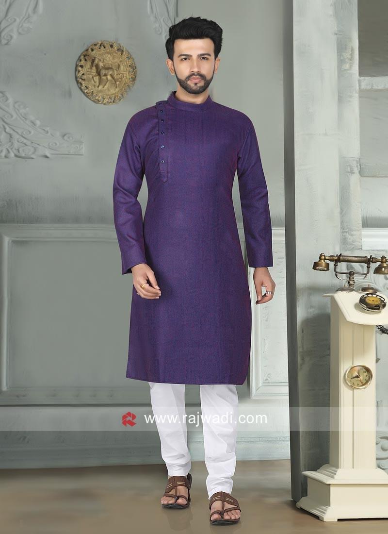 Purple Color Kurta Pajama