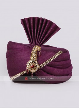 Purple Color Mens Safa