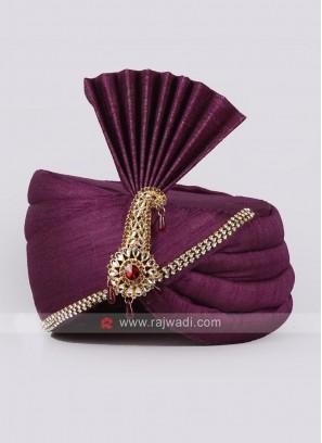 Purple Color Mens Safa
