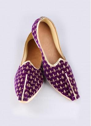 Purple Color Mojari