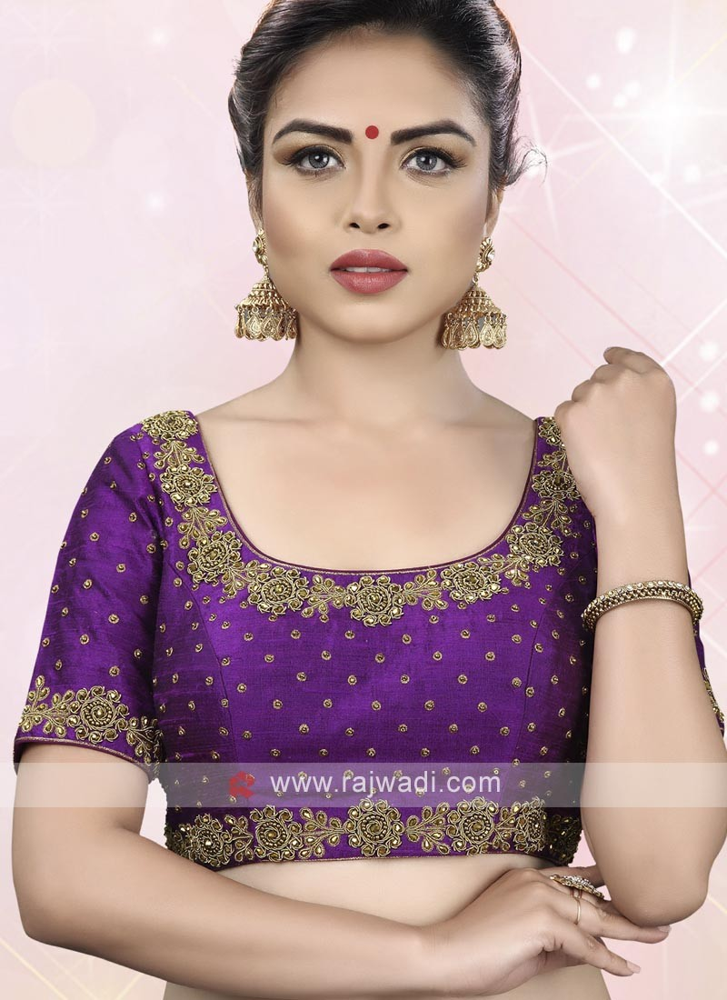 Purple Color Ready Choli