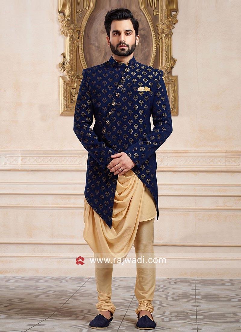 Designer Wedding Brocade Silk Indo Western