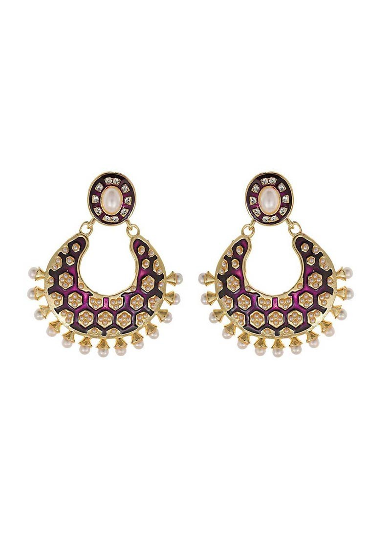 Purple Designer Earring