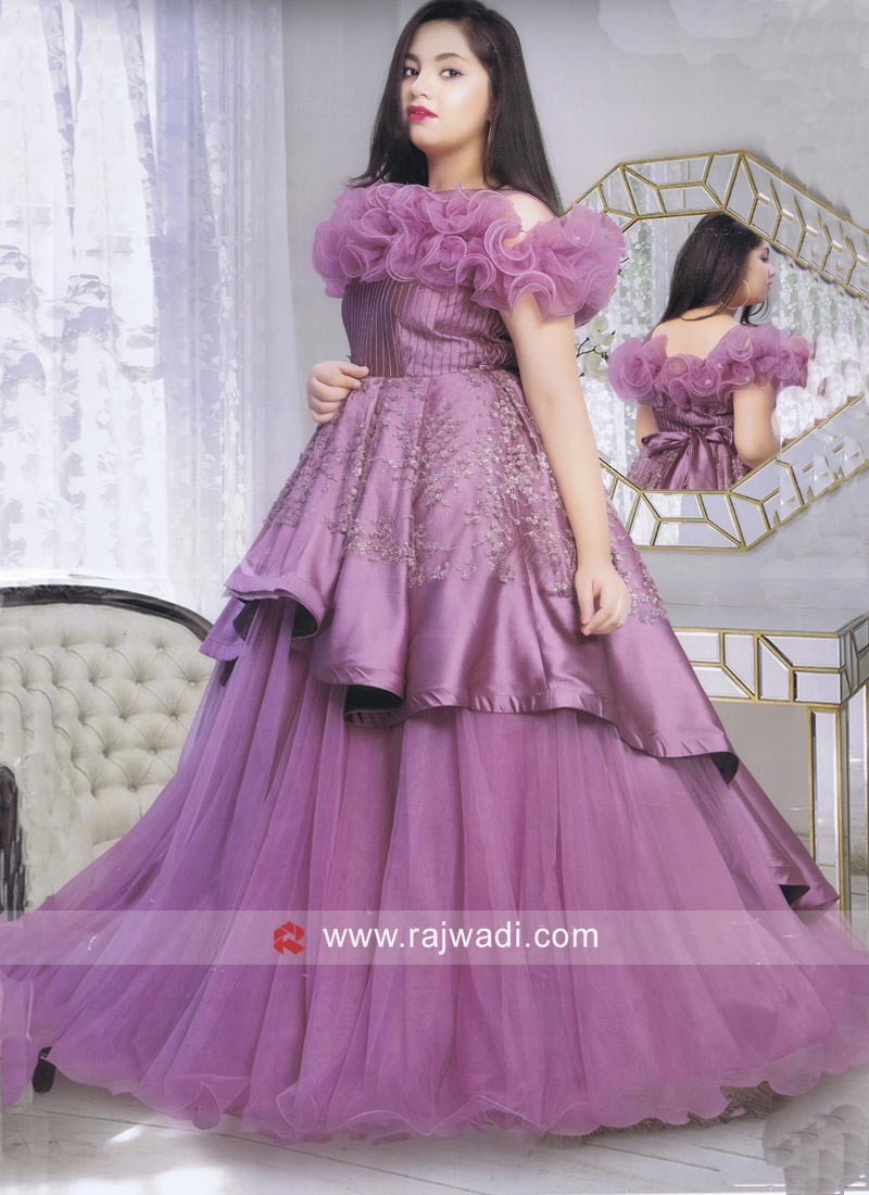 Purple Fairy Gown for Girls