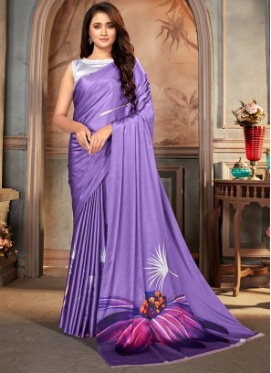 Purple Festival Casual Saree