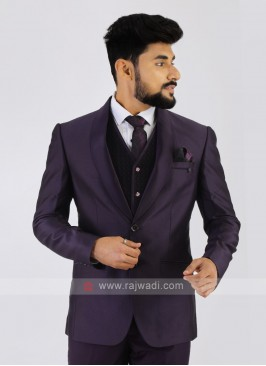 Purple Imported Party Wear Suit