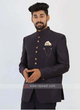 Purple Jodhpuri Suit