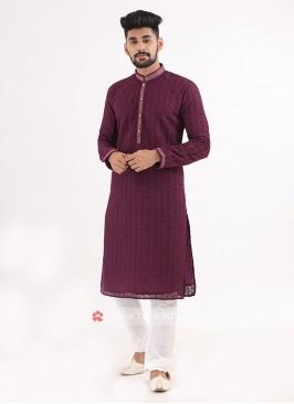 Purple Kurta Pajama
