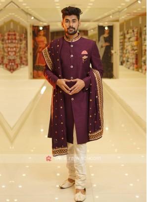 Purple Mens Indo-Western