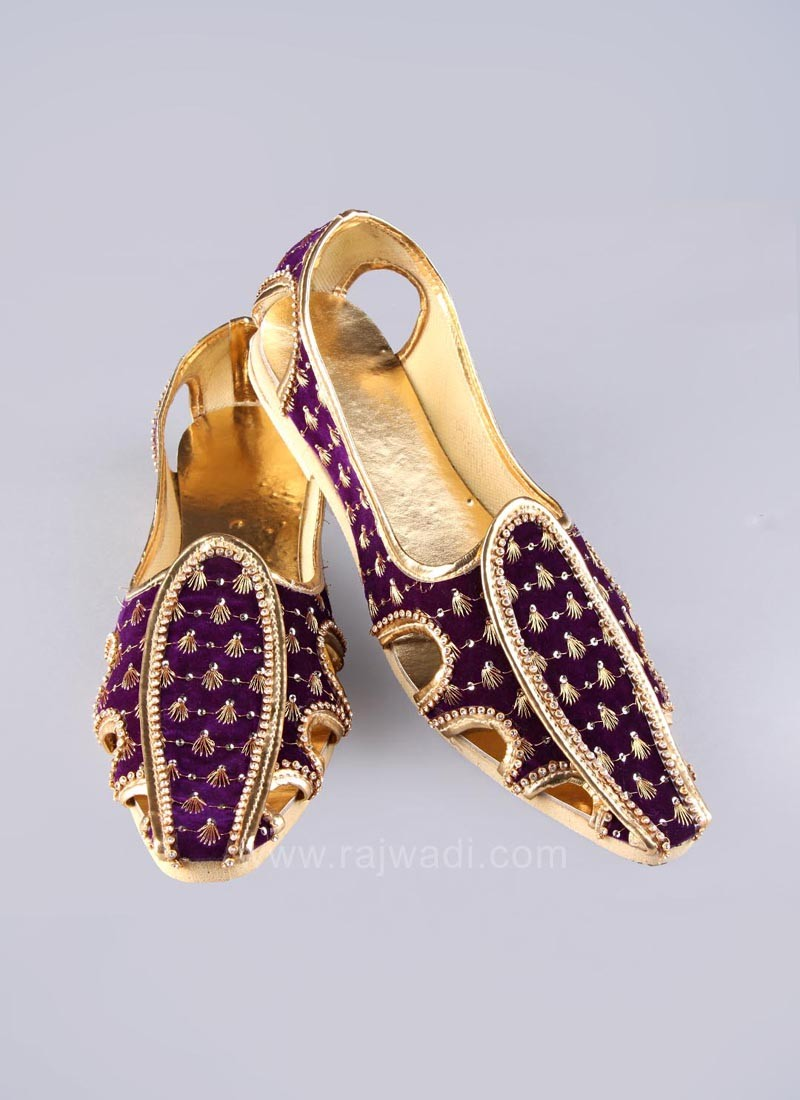 Purple Mojari for Mens