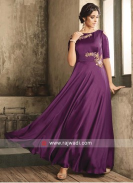 Purple Patch Work Gown