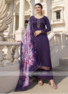 Purple Silk Palazzo Suits