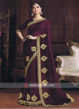 Purple Tamannaah Bhatia Saree