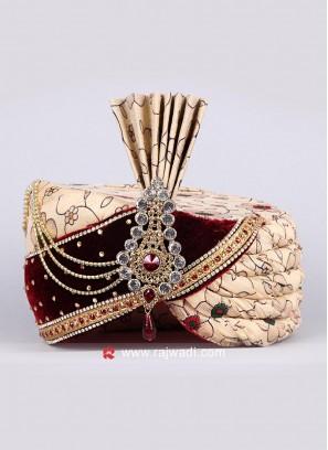 Rajwadi Wedding Turban for Groom