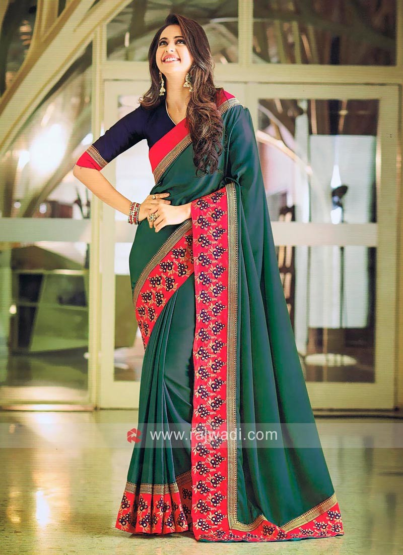 Rakul Preet Singh Art Satin Silk Saree