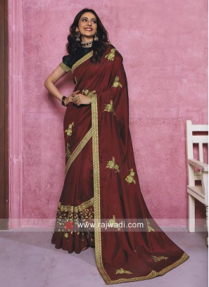 Rakul Preet Singh Art Silk Sari in Maroon