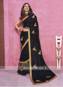 Rakul Preet Singh Black Art Silk Saree
